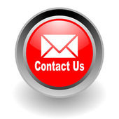 Contact us steel glosssy icon — Stock Photo