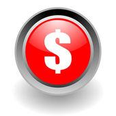 Nos icono brillante acero dólar — Foto de Stock