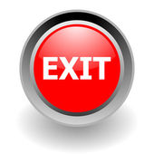 Exit steel glosssy icon — Stock Photo