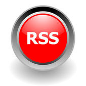 Rss steel glosssy icon — Stock Photo