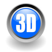 3D display steel glosssy icon — Stock Photo