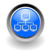 Network steel glosssy icon — Stock Photo