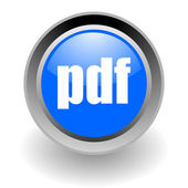 Pdf steel glosssy icon — Stock Photo