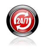 24 for 7 icon — Stock Photo