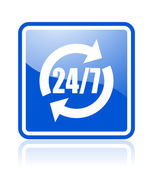 24 for 7 icon — Stock Photo