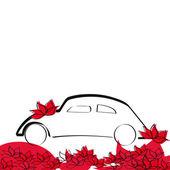 свадебный автомобиль — Cтоковый вектор