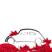 Wedding car — Vector de stock