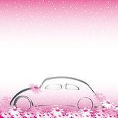 Samochód do ślubu — Wektor stockowy