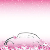 Wedding car — Stock Vector