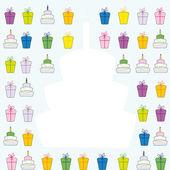 Carte d'anniversaire — Vecteur