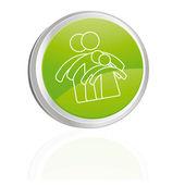 家族のボタン — ストックベクタ
