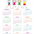 Stock Vector: School calendar