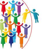 Gruppo di società felice — Vettoriale Stock
