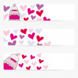 Valentine or wedding banners — Stock Vector