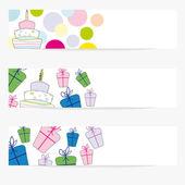 Birthday baners — Stock Vector