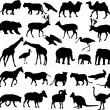Animals silhouettes — 图库矢量图片 #5403057