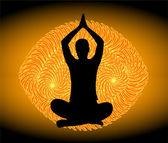 Posición de yoga — Vector de stock