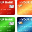 Vector de stock : Credit cards