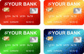 Karty kredytowe — Wektor stockowy