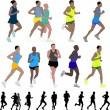 Marathon runners — Stock Vector #5519004