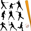 Baseball players — Vector de stock #5559926