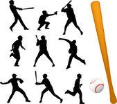 Jugadores de béisbol — Vector de stock