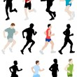 Runners - vector illustration — Stock Vector