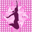 Woman jumping — Stockvectorbeeld
