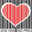 Vector de stock : Love has no price