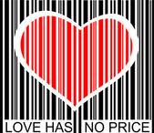 Amore non è prezzo — Vettoriale Stock