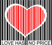 Love has no price — Vettoriale Stock