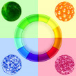 Colorful circle diagram — Stock Vector