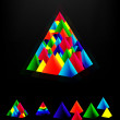 Layered pyramids. Vector. — Stock Vector