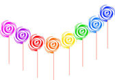 Colorful lollipop isolated on the white — Stock Vector