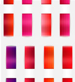 Decorative color ribbons. Different red colors — Stock Vector