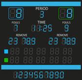 Image of a digital scoreboard. — Stock Vector