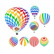 Parachute set, vector illustration, — Stock Vector