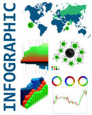 Infochart creative pack. — Stock Vector