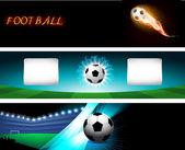 Football background, vector illustration — Stock Vector