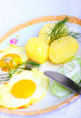 Vegetarian lunch — Stock Photo