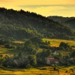 Evening on hills, Poland — Stock Photo