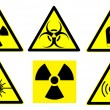 Hazard signs set 1 — Stock Photo