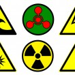 Stock Photo: Hazard signs set 2