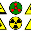 Hazard signs set 2 — Stock Photo