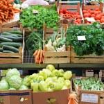 grönsaker marknaden — Stockfoto