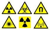 Hazard signs set 1 — Stock Photo