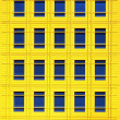 yellow facade — Stock Photo