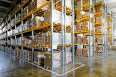 Storehouse shelves — Stock Photo