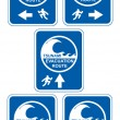 Tsunami evacuation route - Stock Photo