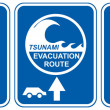 Stock Photo: Tsunami evacuation vehicles